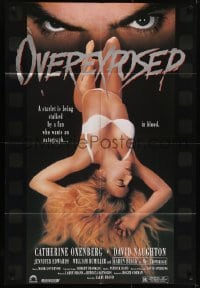 4s724 OVEREXPOSED 1sh 1990 Roger Corman, Karen Black, creepy eyes over sexy half-naked woman!