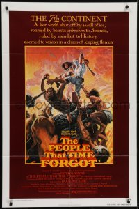 4s735 PEOPLE THAT TIME FORGOT 1sh 1977 Edgar Rice Burroughs, a lost continent shut off by ice!