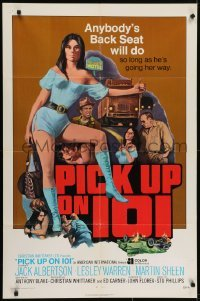 4s741 PICK UP ON 101 1sh 1972 sexy Lesley Ann Warren knows where she wants to go!