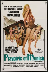 4s747 PLAYGIRLS OF MUNICH 1sh 1977 join the sexcapades with dozens of naughty Bavarian frauleins!