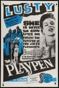 4s748 PLAYPEN 1sh 1967 she's not the same after entering the playpen of the city's fleshpots!