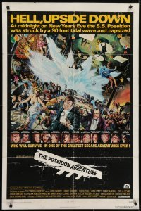 4s752 POSEIDON ADVENTURE 1sh 1972 if you've only seen it once, you haven't seen it all!