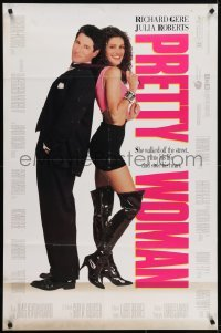 4s757 PRETTY WOMAN DS 1sh 1990 sexiest prostitute Julia Roberts loves wealthy Richard Gere!