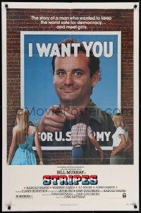 4s883 STRIPES style A 1sh 1981 Ivan Reitman classic military comedy, Bill Murray wants YOU!