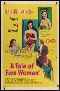 4s901 TALE OF FIVE WOMEN 1sh 1952 sexy Gina Lollobridiga has a screenful of curves!