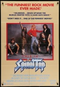4s916 THIS IS SPINAL TAP 1sh 1984 Rob Reiner rock & roll cult classic, great band portrait!