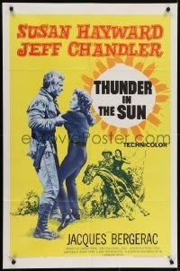 4s919 THUNDER IN THE SUN 1sh 1959 Susan Hayward, Jeff Chandler, Jacques Bergerac