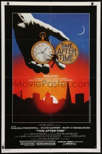 4s922 TIME AFTER TIME 1sh 1979 directed by Nicholas Meyer, cool fantasy artwork by Noble!