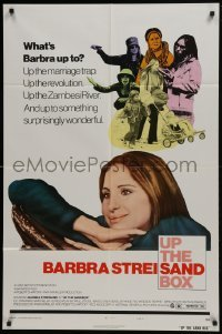 4s942 UP THE SANDBOX style B 1sh 1973 many images of wacky Barbra Streisand!