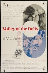 4s945 VALLEY OF THE DOLLS 1sh 1967 sexy Sharon Tate, from Jacqueline Susann's erotic novel!