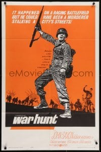 4s960 WAR HUNT 1sh 1962 Robert Redford in his first starring role, war does strange things to men!
