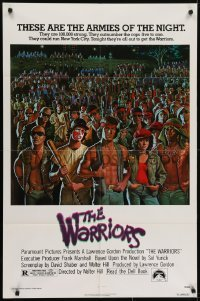 4s962 WARRIORS 1sh 1979 Walter Hill, Jarvis artwork of the armies of the night!