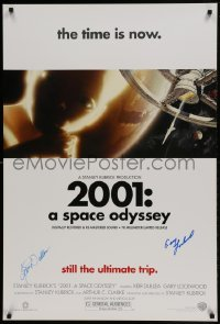 4t019 2001: A SPACE ODYSSEY signed DS 1sh R2000 by BOTH Keir Dullea AND Gary Lockwood, Kubrick!