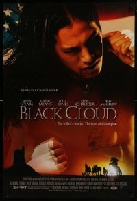 4t023 BLACK CLOUD signed 1sh 2004 by director Ricky Schroder, Native American boxing movie!
