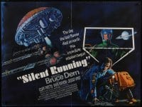4t018 SILENT RUNNING signed British quad 1972 by Bruce Dern, cool different sci-fi art!
