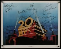 4t055 20TH CENTURY FOX signed 24x30 commercial poster 1981 by TWENTY TWO actors & actresses!
