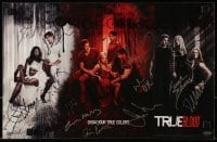 4t057 TRUE BLOOD signed 11x17 commercial poster 2008 by Alexander Skarsgard & 10 other cast members!