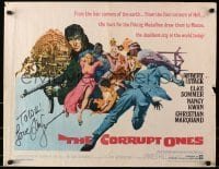 4t008 CORRUPT ONES signed 1/2sh 1967 by Elke Sommer, great montage art by Frank McCarthy!