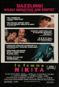 4t030 LA FEMME NIKITA signed 1sh 1991 by Anne Parillaud, directed by Luc Besson!