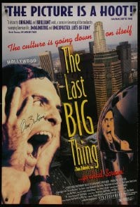 4t032 LAST BIG THING signed DS 1sh 1996 by director Dan Zukovic, culture is going down on itself!