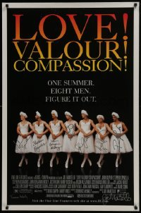 4t034 LOVE! VALOUR! COMPASSION! signed DS 1sh 1997 by director Joe Mantello & EIGHT other people!