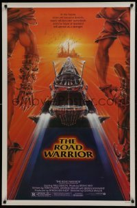 4t035 MAD MAX 2: THE ROAD WARRIOR signed 1sh 1982 by Mel Gibson, great artwork by Commander!