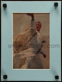 4t078 PETER O'TOOLE signed magazine ad in 9x12 display 1960s best image from Lawrence of Arabia!