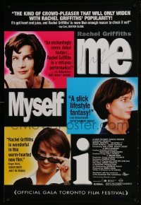 4t036 ME MYSELF I signed 1sh 1999 by Rachel Griffiths, Pip Karmel Australian comedy!
