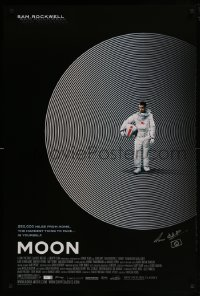 4t037 MOON signed 1sh 2009 by director Duncan Jones, great image of lonely astronaut Sam Rockwell!