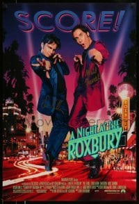 4t039 NIGHT AT THE ROXBURY signed 1sh 1998 by BOTH Will Ferrell AND Chris Kattan, from SNL skit!