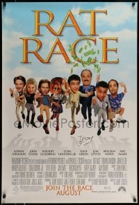 4t042 RAT RACE signed advance 1sh 2001 by John Cleese, who's pictured with the top cast!