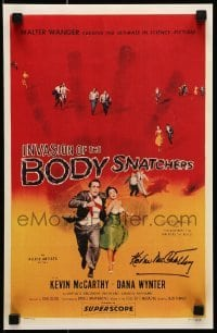 4t051 INVASION OF THE BODY SNATCHERS signed 11x17 REPRO poster 1998 by Kevin McCarthy!