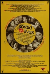 4t045 SORDID LIVES signed 1sh 2000 by Olivia Newton-John, who's shown in a great cast montage!