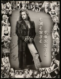 4t013 CHERIE CURRIE signed 18x24 music poster 1970s she was the Runaways lead singer!