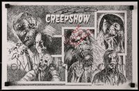 4t059 CREEPSHOW signed 11x17 special poster 2008 by George Romero, Tom Savini AND Adrienne Barbeau!