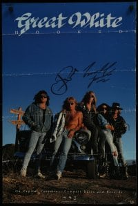 4t014 GREAT WHITE signed 2-sided 20x30 music poster 1989 by BOTH Jack Russell AND Michael Lardie!