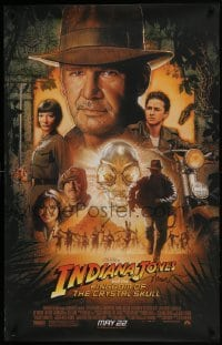 4t060 INDIANA JONES & THE KINGDOM OF THE CRYSTAL SKULL signed 26x40 special poster 2008 by Struzan!