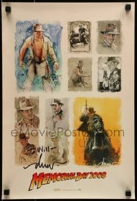 4t050 INDIANA JONES & THE KINGDOM OF THE CRYSTAL SKULL signed 14x20 mini poster 2008 by Drew Struzan