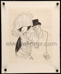 4t049 LOVE AMONG THE RUINS signed #16/33 15x19 art print 1975 by Hepburn, Olivier AND Al Hirschfeld!