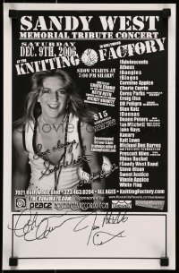 4t016 SANDY WEST MEMORIAL TRIBUTE CONCERT signed 11x17 music poster 2006 by Cherie Curry & Mitchell!
