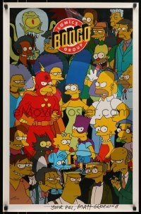 4t062 SIMPSONS signed 22x34 Canadian special poster 1993 by creator Matt Groening, great montage!