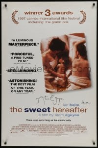 4t047 SWEET HEREAFTER signed DS 1sh 1997 directed by BOTH director Atom Egoyan AND Ian Holm!