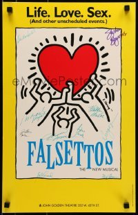4t066 FALSETTOS signed stage play WC 1992 by Stephen Bogardus & NINE other cast members!
