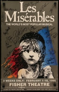 4t067 LES MISERABLES signed stage play WC 1995 by TWENTY SIX members of the cast & crew!