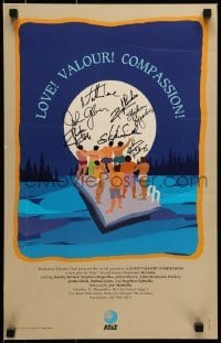 4t068 LOVE! VALOUR! COMPASSION! signed stage play WC 1994 by Nathan Lane & SIX other cast members!