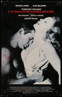 4t069 STREETCAR NAMED DESIRE signed stage play WC 1992 by BOTH Jessica Lange AND Alec Baldwin!