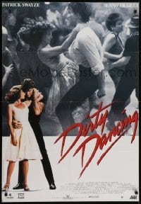4y061 DIRTY DANCING Canadian 1sh 1987 great image of Patrick Swayze & Jennifer Grey dancing!