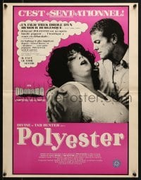 4y057 POLYESTER Canadian 1981 John Waters, Divine, Tab Hunter, filmed in Odorama!