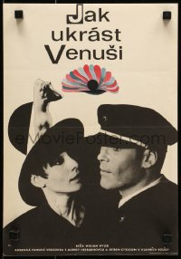 4y131 HOW TO STEAL A MILLION Czech 11x16 1967 art of Audrey Hepburn & Peter O'Toole by Hilmar!
