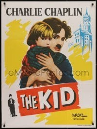 4y113 KID Indian R1960s artwork of Charlie Chaplin holding Jackie Coogan!